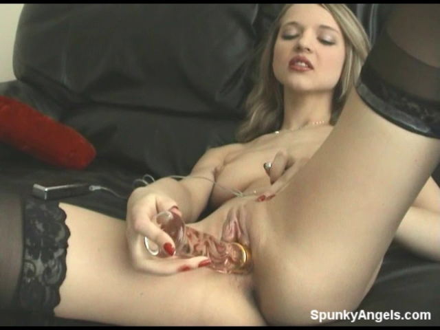 Britney loves to cum on camera! Watch as this stunning beauty fucks her pussy with a big glass toy while using a tiny vibrator on her clit. Be sure to check out the full resolution video inside of Spunkyangels tonight!
